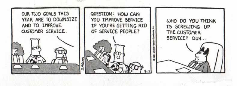 Dilbert on Customer Service
