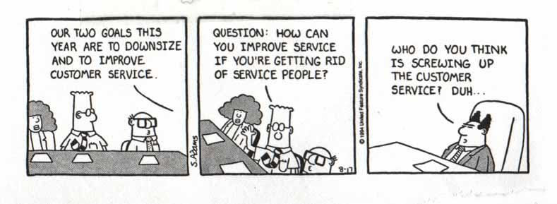 Dilbert on Customer Service